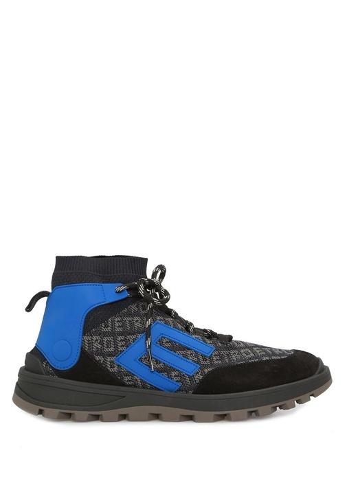 Mavi Logo Jakarlı Çorap Formlu Erkek Sneaker