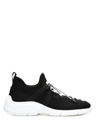 Prada Kadın Siyah Çorap Formlu Logo Jakarlı Sneaker 39 EU