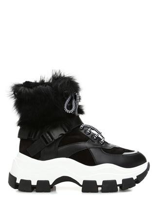 Prada Kadın Siyah Kalın Tabanlı Deri Sneaker 39.5 EU