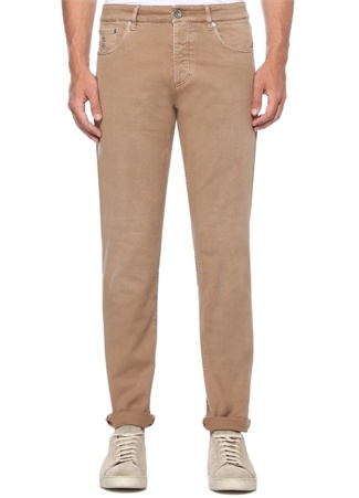 Traditional Fit Bej Normal Bel Jean Pantolon