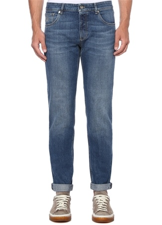 Traditional Fit Mavi Normal Bel Jean Pantolon