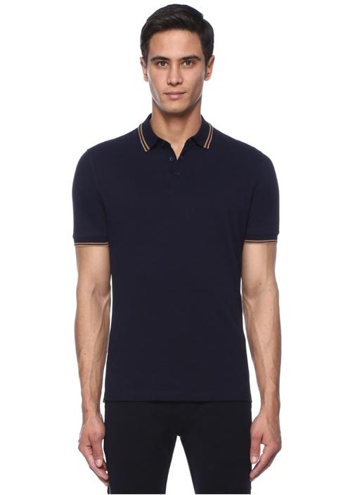 Regular Fit Lacivert Bej Polo Yaka T-shirt