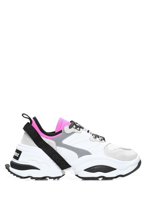 Giant K2 Pembe Beyaz Kadın Deri Sneaker