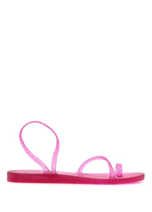 Eleftheria Pembe İnce Bantlı Kadın Sandalet