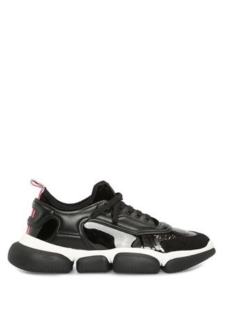 Moncler Kadın Briseis Siyah Garnili Deri Sneaker 36 EU