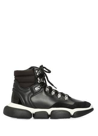 Moncler Kadın Brianna Siyah File Garnili Deri Sneaker 36.5 EU