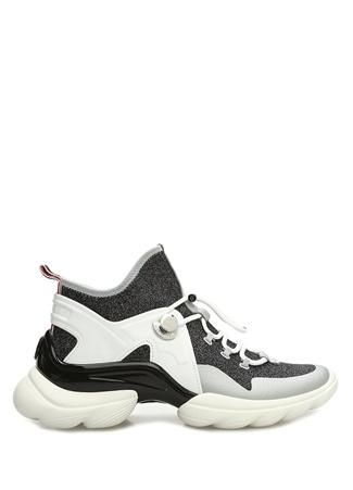 Moncler Kadın Thelma Antrasit Beyaz Sim Dokulu Sneaker Gri 38 EU female
