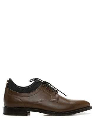 Kahverengi Bilek Detaylı Kadın Deri Ayakkabı