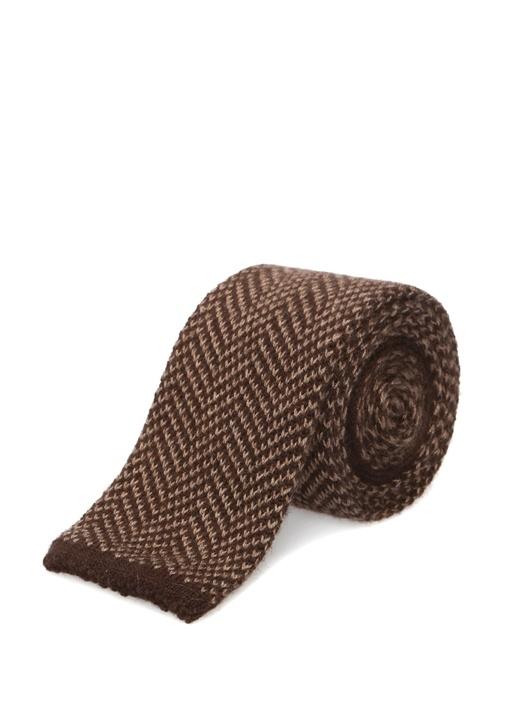Kahverengi Kırçıllı İpek Kravat
