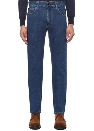 Regular Fit Mavi Boru Paça Jean Pantolon
