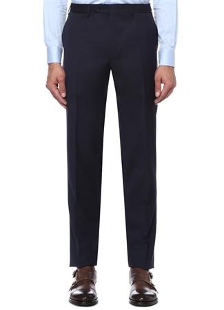 Drop 6 Lacivert Boru Paça Yün Pantolon