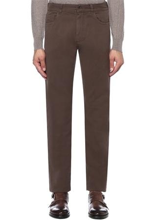 Kahverengi Boru Paça Pantolon
