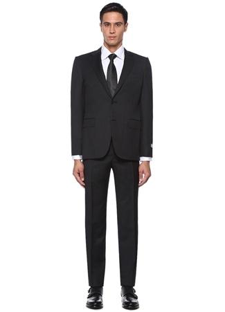 Drop 6 Antrasit Kelebek Yaka Yün Takım Elbise