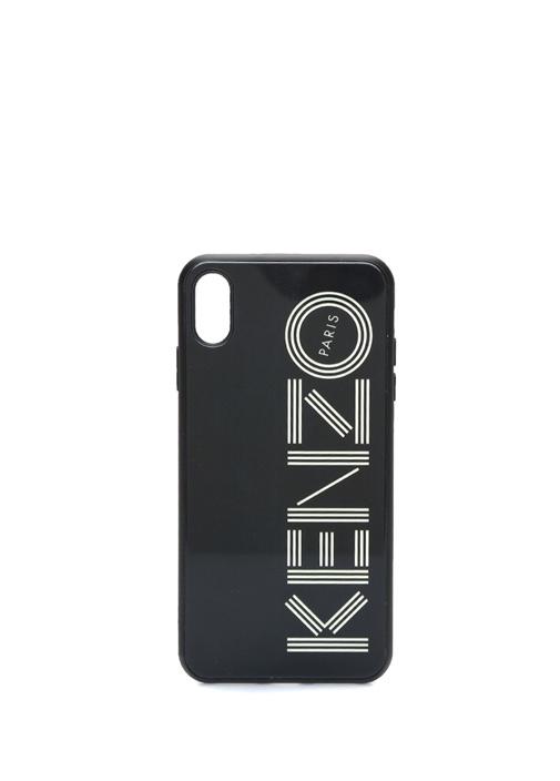 Siyah Logo Baskılı iPhone XS Max Telefon Kılıfı