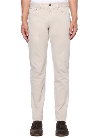 Tailored Fit Bej Kanvas Pantolon