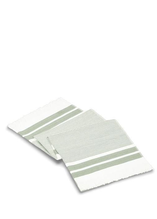Kelsie Herringbone Beyaz Gri Unisex Peştemal