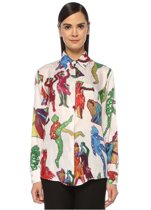 All Together Now The Beatles Desenli İpek Gömlek