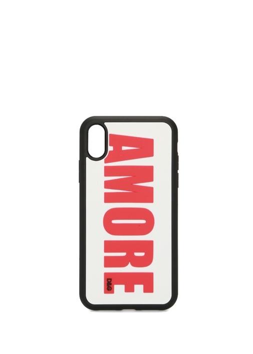 Amore Baskılı iPhone XR Kadın Telefon Kılıfı