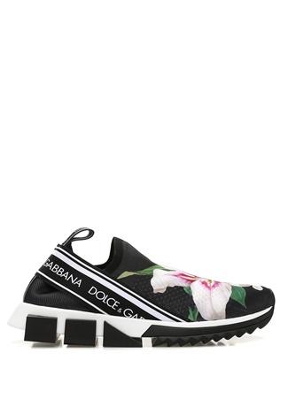 Sorrento Zambak Baskılı Çorap Formlu Kadın Sneaker
