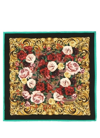 Dolce&Gabbana Kadın Çiçek Desenli İpek Fular EU Çok Renkli female Standart