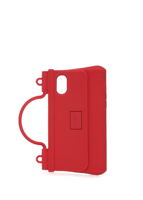 Sicily Kırmızı Çanta Formlu iPhone X Telefon Kılıf