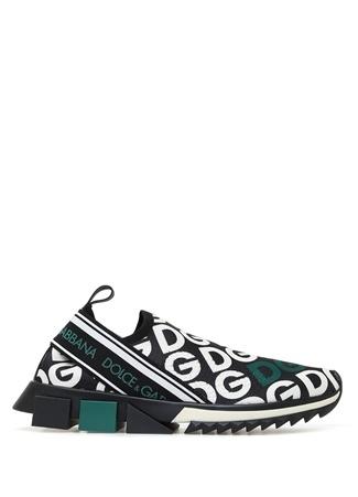 Sorrento Siyah Yeşil Logolu Kadın Sneaker