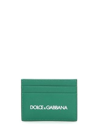 Dolce&Gabbana Erkek Yeşil Logo Baskılı Deri Kartlık EU male Standart