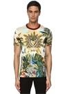 Colorblocked Karışık Baskılı Logolu T-shirt