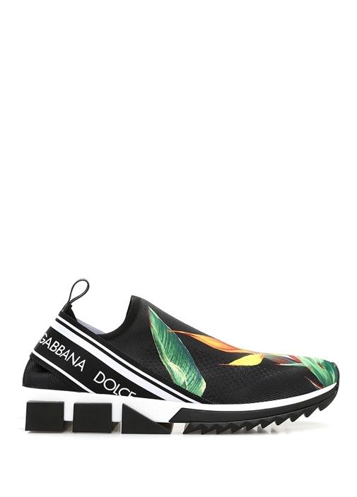 Sorrento Siyah Taban Detaylı Baskılı Erkek Sneaker