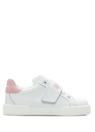 Erkek Çocuk Portofino Pembe Beyaz Kız Deri Sneaker 25 EU