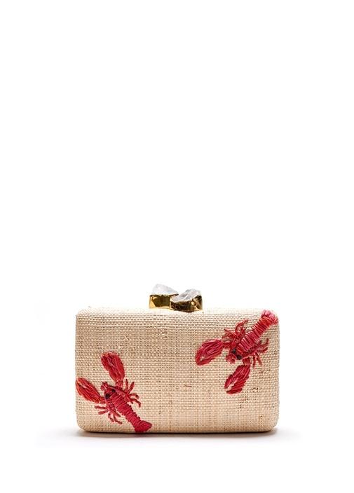 Kapre Lobster Beyaz Doğal Taşlı Kadın El Portföyü