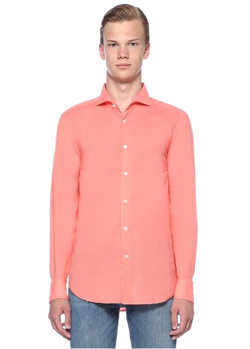 Pembe İtalyan Yaka Gömlek