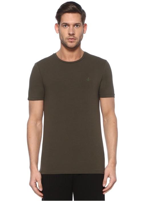 Haki Kuş Logolu Basic T-shirt