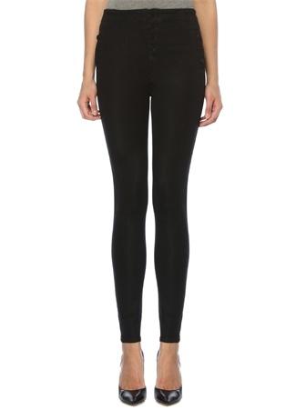 J Brand Kadın Natasha Siyah Yüksek Bel Skinny Jean Pantolon 27 US female