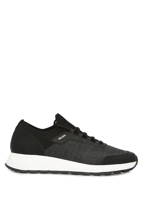 Siyah Ribanalı Erkek Sneaker