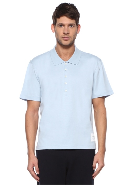 Relaxed Fit Mavi Polo Yaka Jersey T-shirt