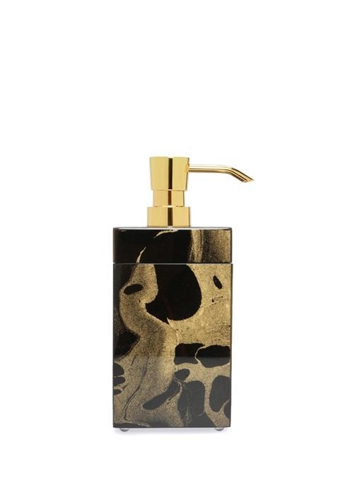 Siyah Gold Desenli Dekoratif Kutulu Sıvı Sabunluk