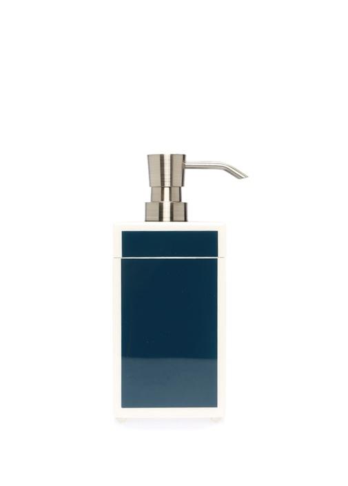 Lacivert Beyaz Dekoratif Kutulu Sıvı Sabunluk