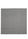 Siyah Beyaz Mikro Logo Desenli Erkek Atkı