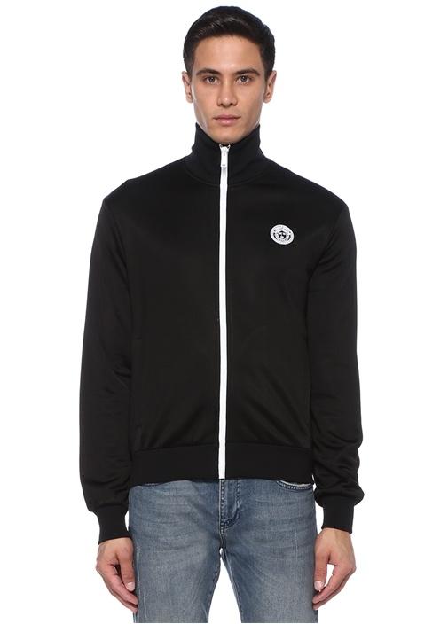 Medusa Siyah Nakışlı Sweatshirt