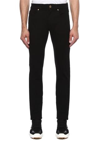 Taylor Fit Siyah Beli Logolu Jean Pantolon