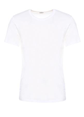 Zimmerli Erkek Beyaz Bisiklet Yaka T-shirt XL EU male
