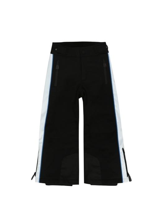 Siyah Beyaz Logolu Erkek Çocuk Kayak Pantolonu
