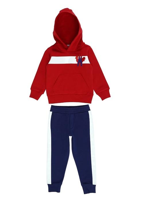 Kırmızı Lacivert Erkek Çocuk Eşofman Takımı