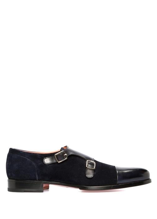 Lacivert Garnili Erkek Deri Ayakkabı
