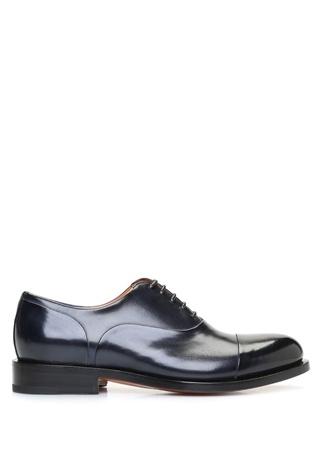 Santoni Erkek Lacivert Deri Ayakkabı 6.5 UK male
