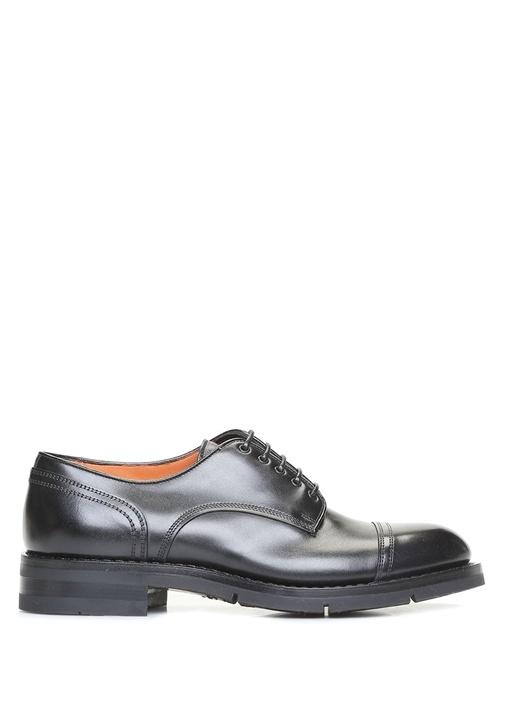 Antrasit Dekoratif Dikişli Erkek Deri Ayakkabı