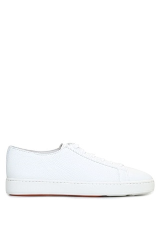 Santoni Sport Erkek Beyaz Deri Sneaker UK male 11