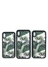 Beyaz Yeşil Desenli iPhone X Telefon Kılıfı