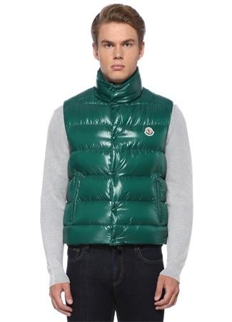 Moncler Erkek Tib Gilet Yeşil Dik Yaka Logolu Puff Yelek 6 US male